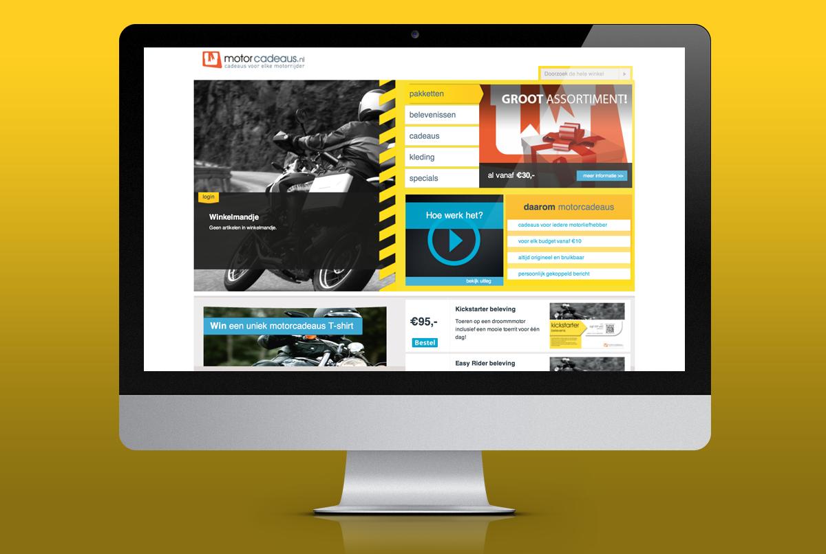 ontwerp Motorcadeaus site